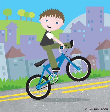 Boy on His Bike