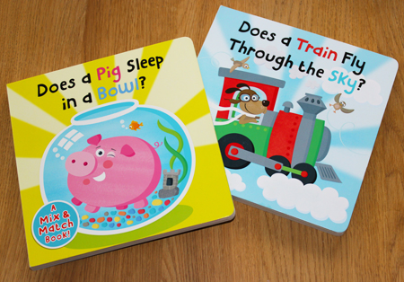 Egmont Pig and Train covers