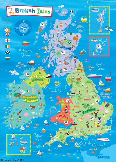 LH British Isles Map live text newest