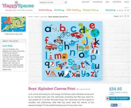 Boys alphabet