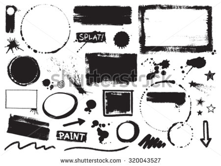 stock-vector-vector-inky-grunge-paint-splats-borders-and-marks-320043527